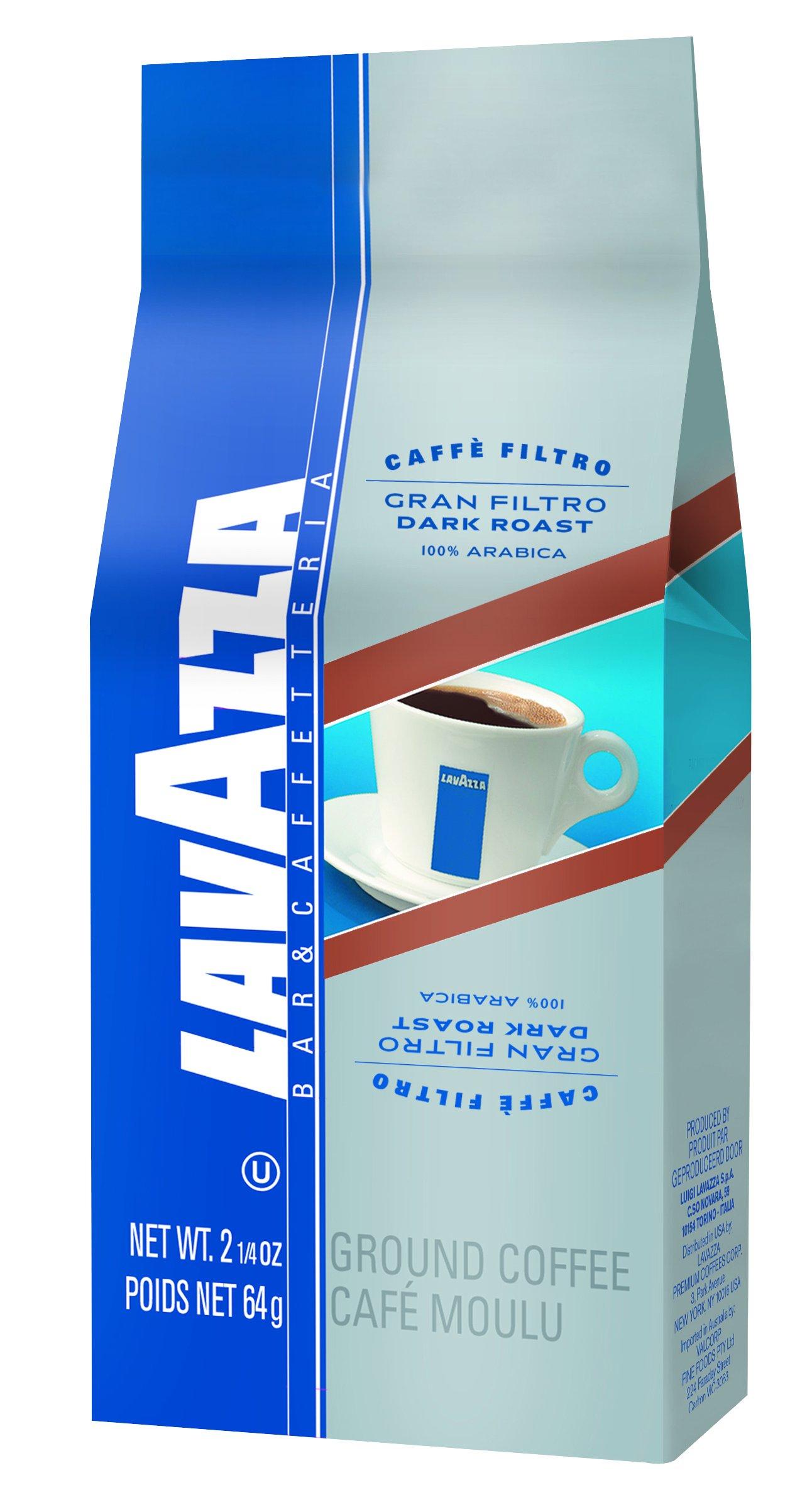 Lavazza Gran Filtro Whole Bean Coffee Blend, Dark Roast, 2.2-Pound Bag