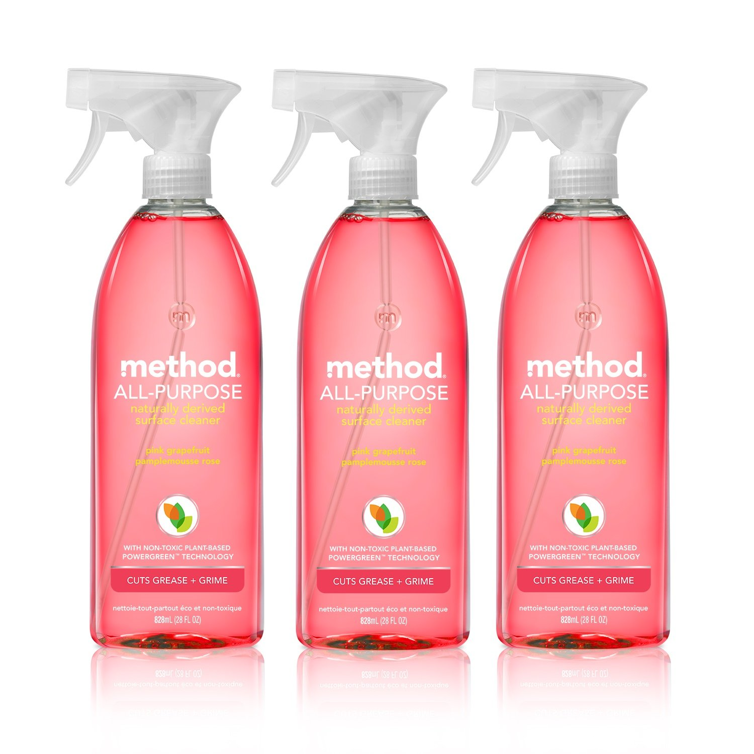 Amazoncom Method Allpurpose Natural Surface Cleaner Pink - Method bathroom cleaner ingredients