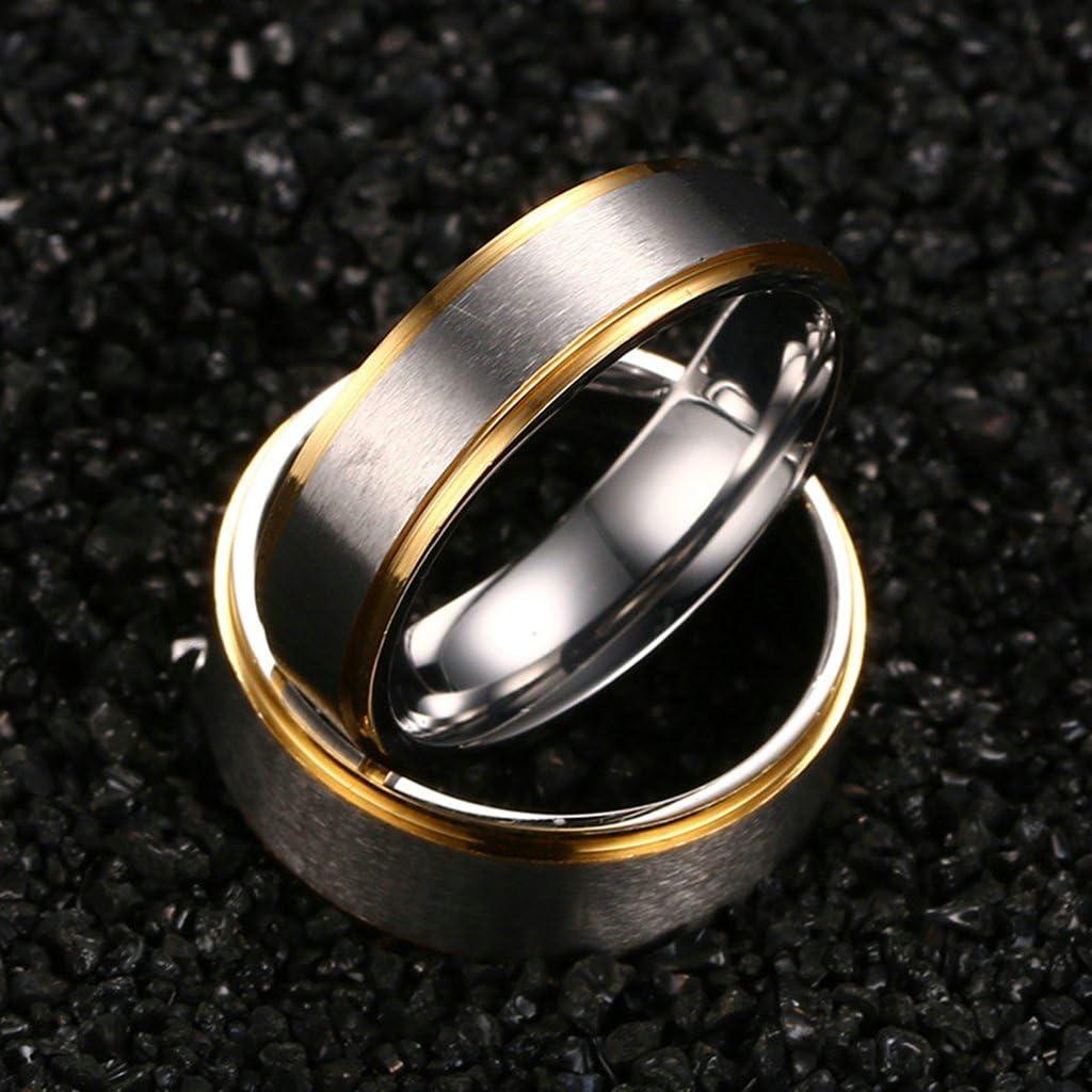 ANAZOZ Stainless Steel Gold Rings Set Women Size 5 /& Men Size 7