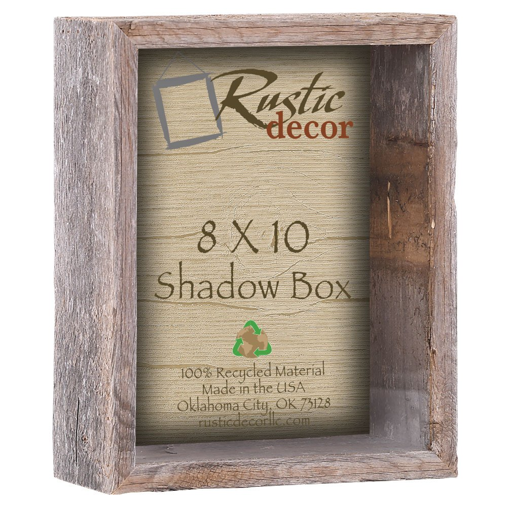 8x10 Shadow Box Picture Frames Wooden Barnwood Frames Amazonca