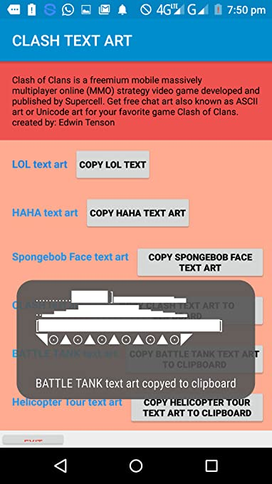 Amazon com: Clash text art: Appstore for Android