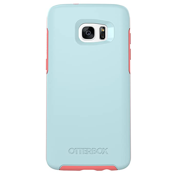 new style 7d3d8 8d86f OtterBox SYMMETRY SERIES Case for Samsung Galaxy S7 Edge - Retail Packaging  - BOARDWALK (BAHAMA BLUE/CANDY PINK)
