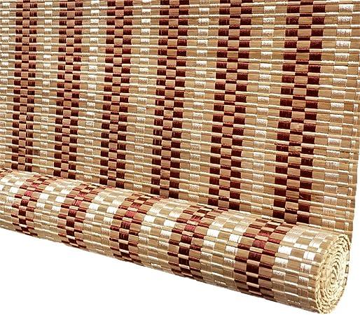 Persianas de Bambu Sombra Enrollable al Aire Libre, Cortina de Bambú Persianas Enrollables de Madera, para Terraza Gazebo Gazebo Pergola Patio Porche Carport, 85cm/105cm/125cm/135cm de Ancho: Amazon.es: Hogar