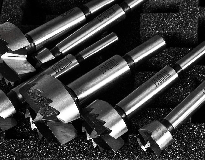 5 mm Abstufung Amboss Werkzeuge Forstnerbohrer Satz 6-tlg /Ø 15 bis 40 mm