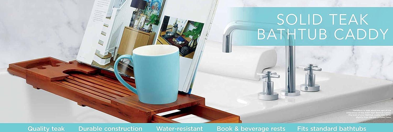 Amazon.com : Conair Home Solid Teak Bathtub Tray : Beauty