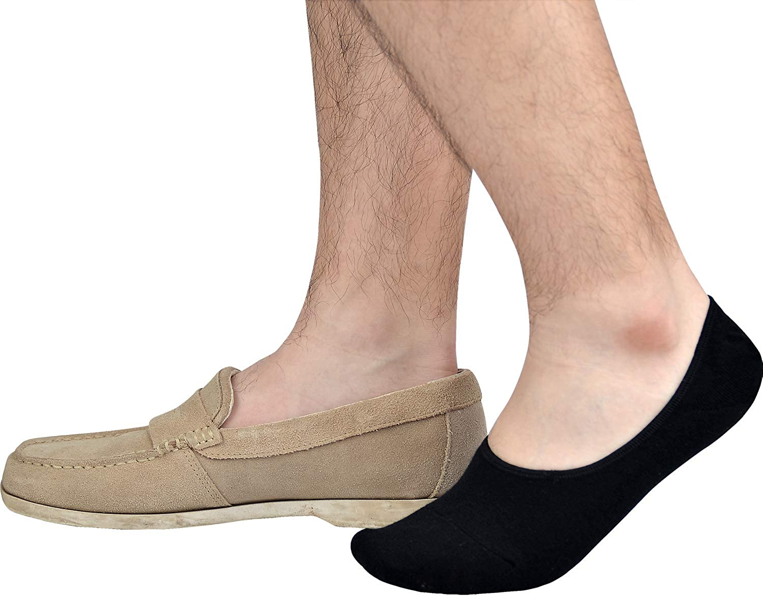 Jormatt Mens Truly No Show Socks With Non Slip Grips,Women Cotton Low Cut Socks for Loafer Sneakers Boat Shoes