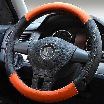 Amazon Com Moyishi Top Leather Steering Wheel Cover Universal Fit