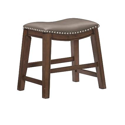 Enjoyable Homelegance Ordway Dining Height Bar Stool 20Sh Gray Evergreenethics Interior Chair Design Evergreenethicsorg