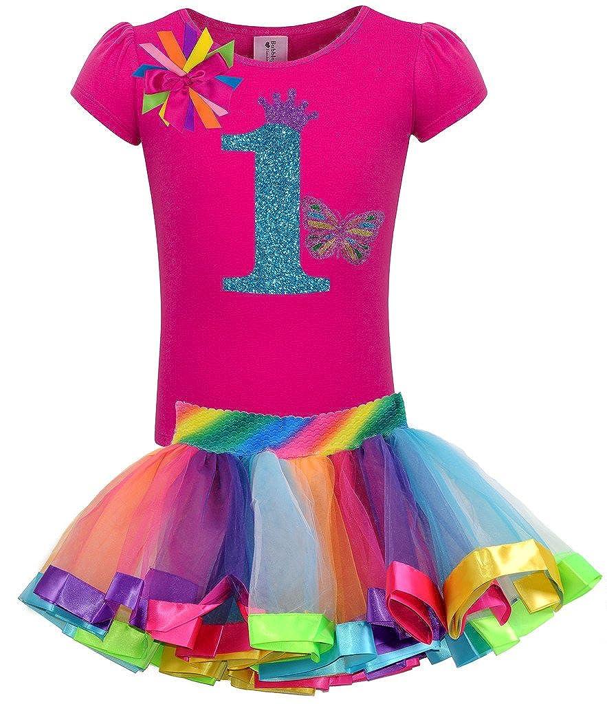 激安正規  Bubblegum Divas Baby Girls Divas 1st Birthdayバタフライシャツレインボーチュチュ Size 18 Baby months B019LVBJNK B019LVBJNK, かわいいわんこのおはなやさん:52e318ec --- quiltersinfo.yarnslave.com