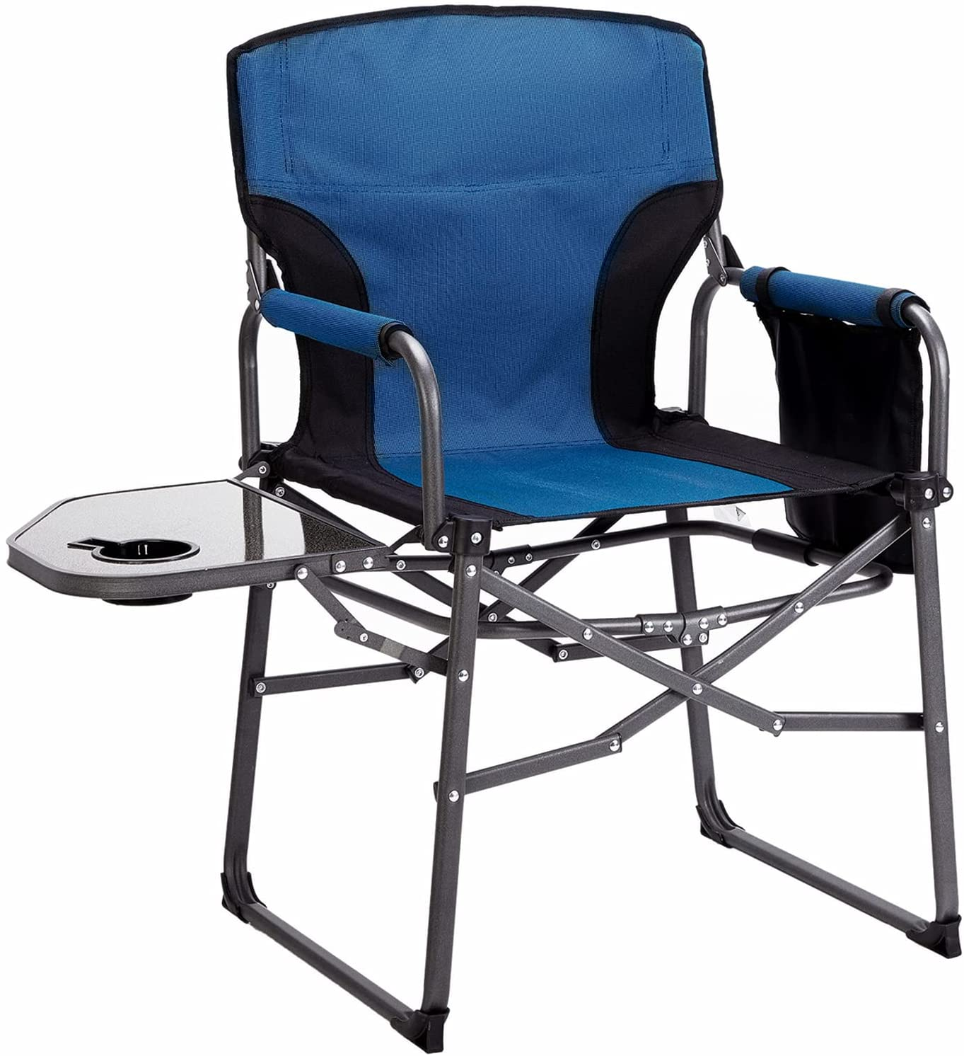 MaiuFun Folding Max 77% OFF Camping Chair with Easy-to-use D Portable Table Side Outdoor
