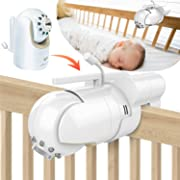 Baby Monitor Mount Bracket for Infant Optics DXR-8 Baby Monitor, Featch Universal Baby Cradle Mount Holder for Infant Optics DXR-8(Infant Optics DXR-8 Not Included.)