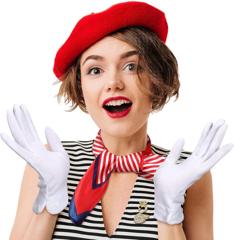 Beret Costume Women Wool Beret French Artist Beret Hat Set Scarf Brooch Gloves Red