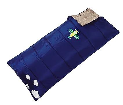 L.A. Trekking 82241 - Saco de dormir rectangular para niño con mochila (150 x 68 x 10 cm), diseño de avión: Amazon.es: Ropa y accesorios