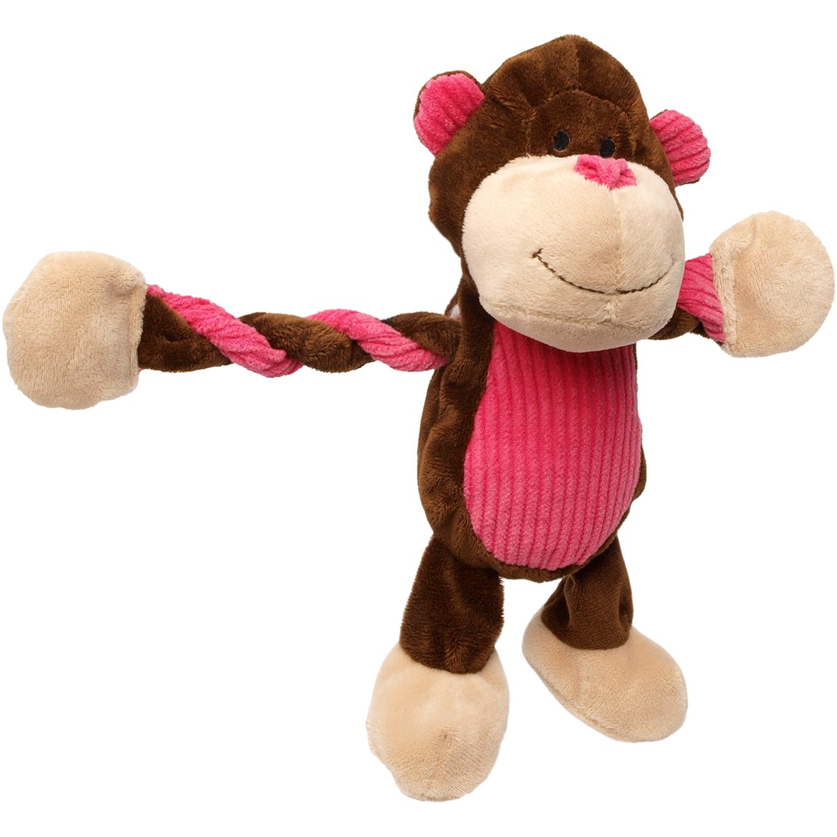 Charming Pet Products Pulleez Monkey Plush Dog Toy