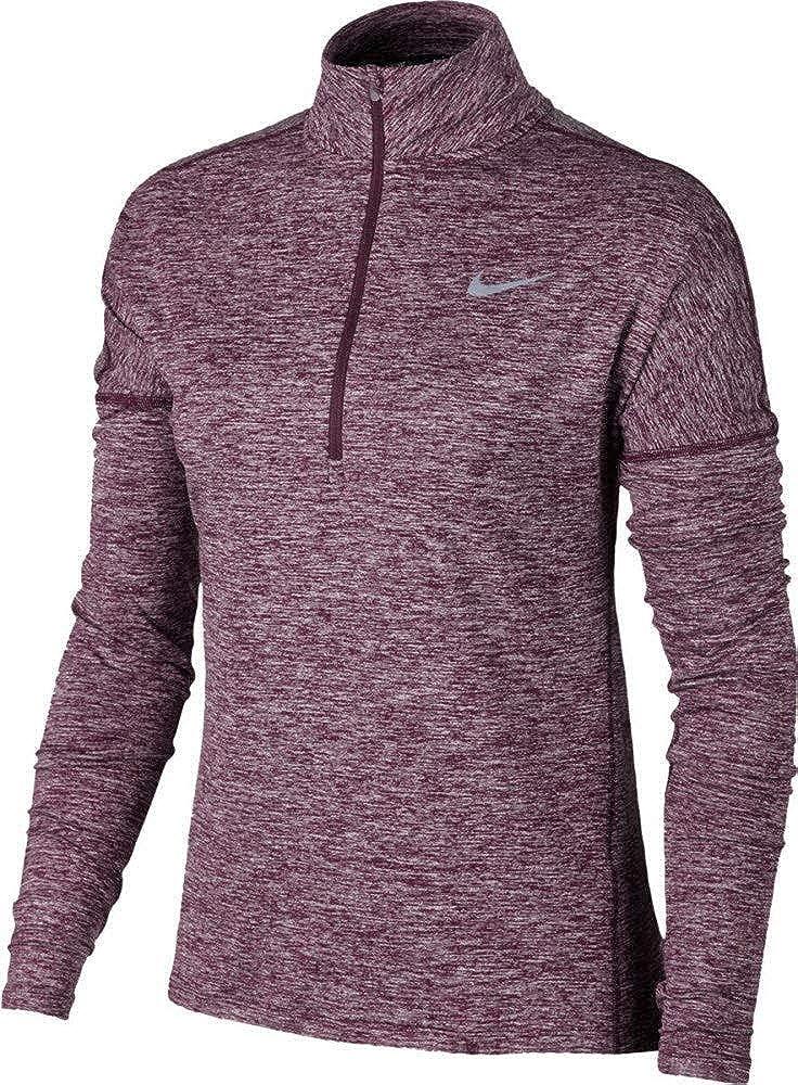 Port Wine XL Nike Women's Dry Elmnt Hz Long Sleeve Top