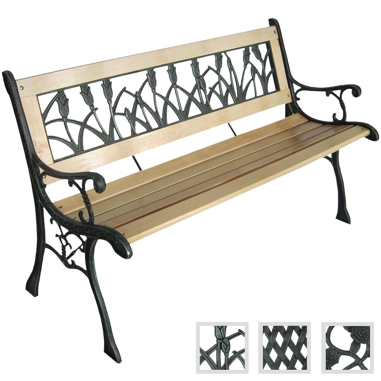 Jago–Garden Bench with Tulip Design 122x 56x 74cm Jago AG