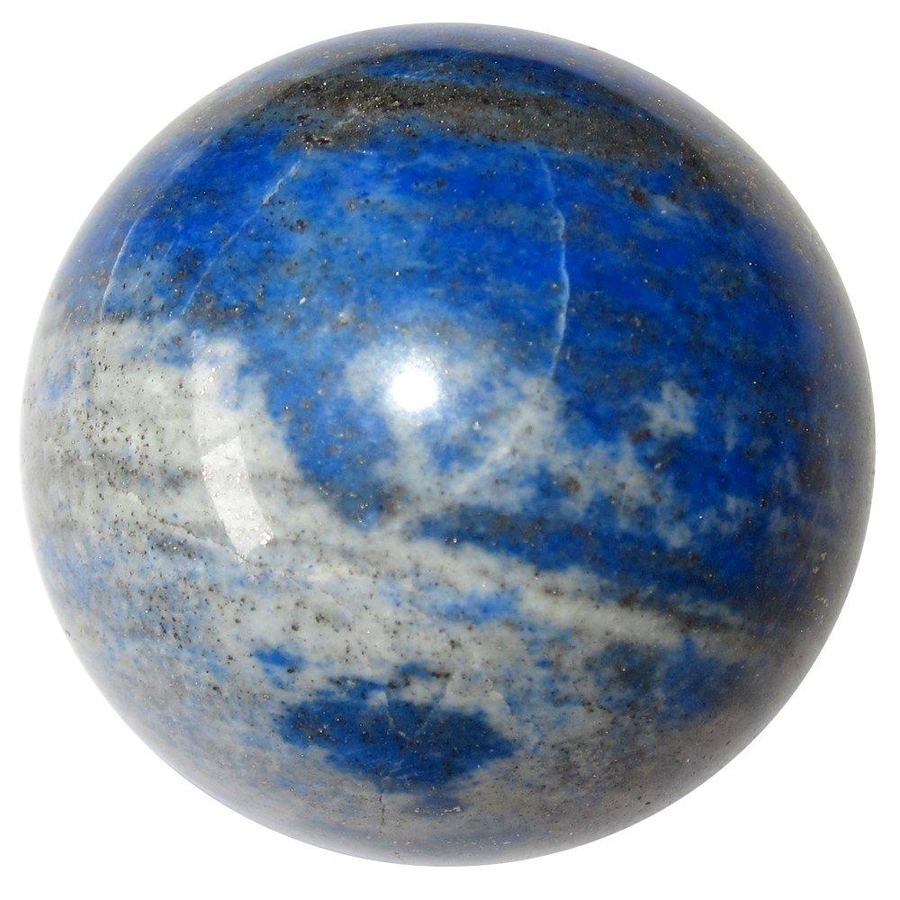 サテンクリスタルLapisボールプレミアムブルーLazuli Third Eye Chakra直感的なHealing Precious Stone球p03 1.5 Inches ブルー lapisball03-afghanearth-1.5 B07BDQTTG1 Afghan Earth 1.5 Inches