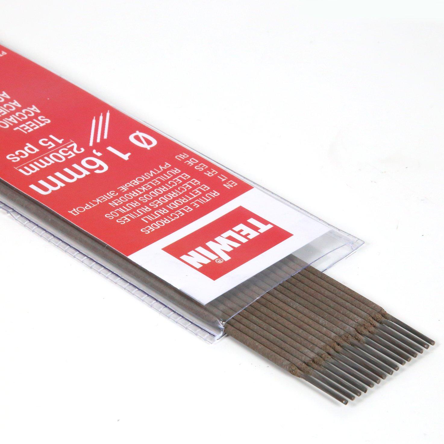 Electrodos rutilos acero kit 15 piezas /Ø 1,6 Telwin