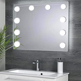 Viala Luces de Espejo de Maquillaje, Lámpara de Aparador Baño, Luces Kit con 10