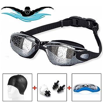 141d6f2746be Uzza  1 Pro Swimming Bundle - Swimming Goggles with Silicone Swimming Cap  Bundle - Swim