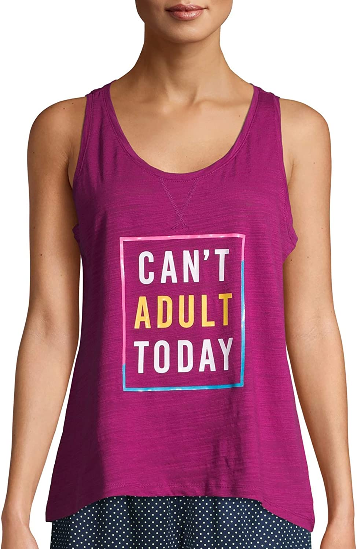 Secret Treasures Womens Graphic Sleep Tank Top Shirt