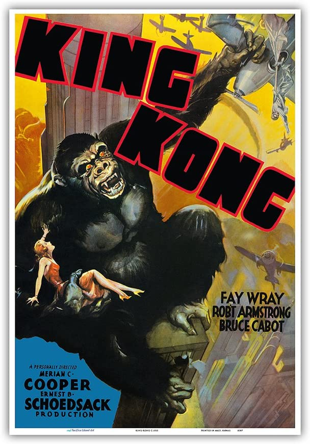 King Kong 1933 French Movie Poster Vintage France Reprint NEW POSTER