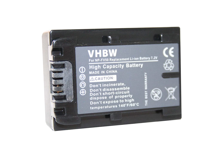 vhbw Batteria Li-Ion 600mAh (7.2V) con infochip per videocamera camcorder Sony PXW-X70 sostituisce NP-FV30, NP-FV40. VHBW4251358591863