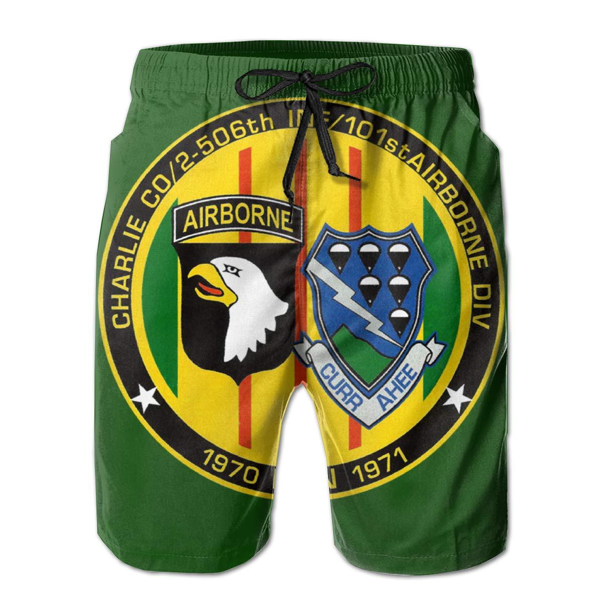 506th Infantry,101st Airborne Mens Board Shorts,Casual Shorts,Beach Shorts Summer Boardshorts