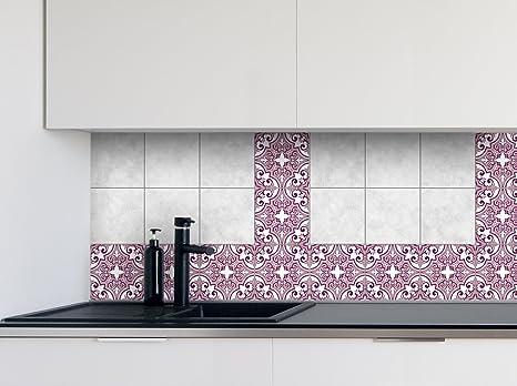 Adesivi per piastrelle cucina rose patterns dimensioni della