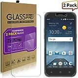 [2-Pack]ZTE Maven 3 Z835 Tempered Glass Screen Protector, ZTE Z833 Trio Glass, ZeKing 0.33mm 2.5D Edge 9H Hardness [Anti Scratch][Anti-Fingerprint] Bubble Free, Lifetime Replacement Warranty
