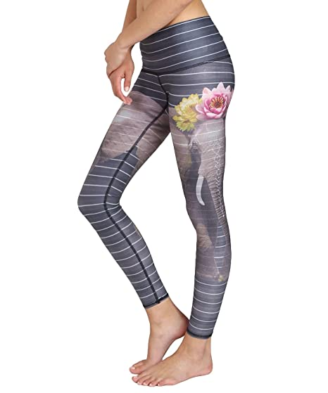 c42ceb5cb4 Teeki Womens Eco-Friendly Yoga Hot Pants (Love The Elephant, Small):  Amazon.co.uk: Clothing