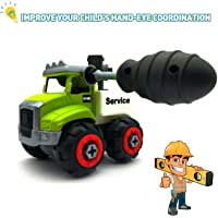 Emob® DIY Assembly Agriculture Farm Truck Construction Vehicle Truck Building Toy with Screw Driver (Crane)