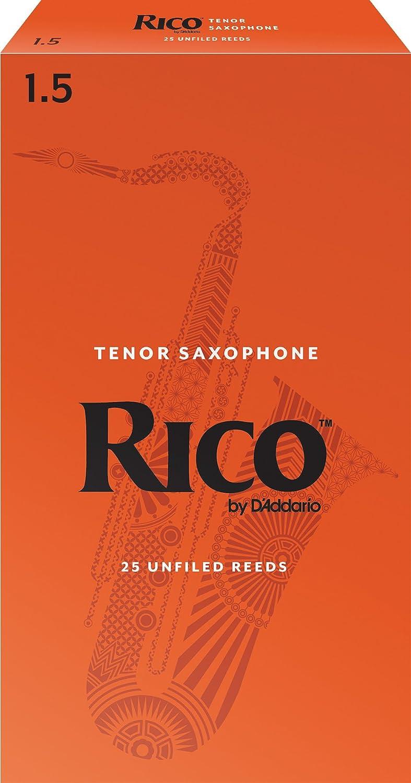 25-pack Rico by DAddario Tenor Sax Reeds Strength 3.5