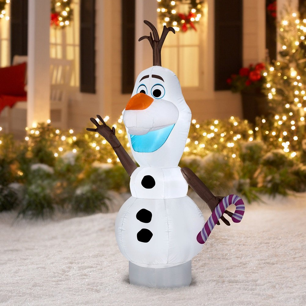 Amazon.com: Gemmy Disney Frozen Airblown Inflatable Olaf the Snowman ...
