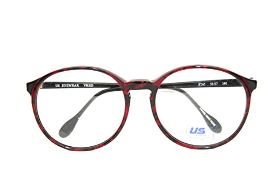 Amazon.com: 80s Frames Glasses - Hipster Round Big Red Tortoise ...