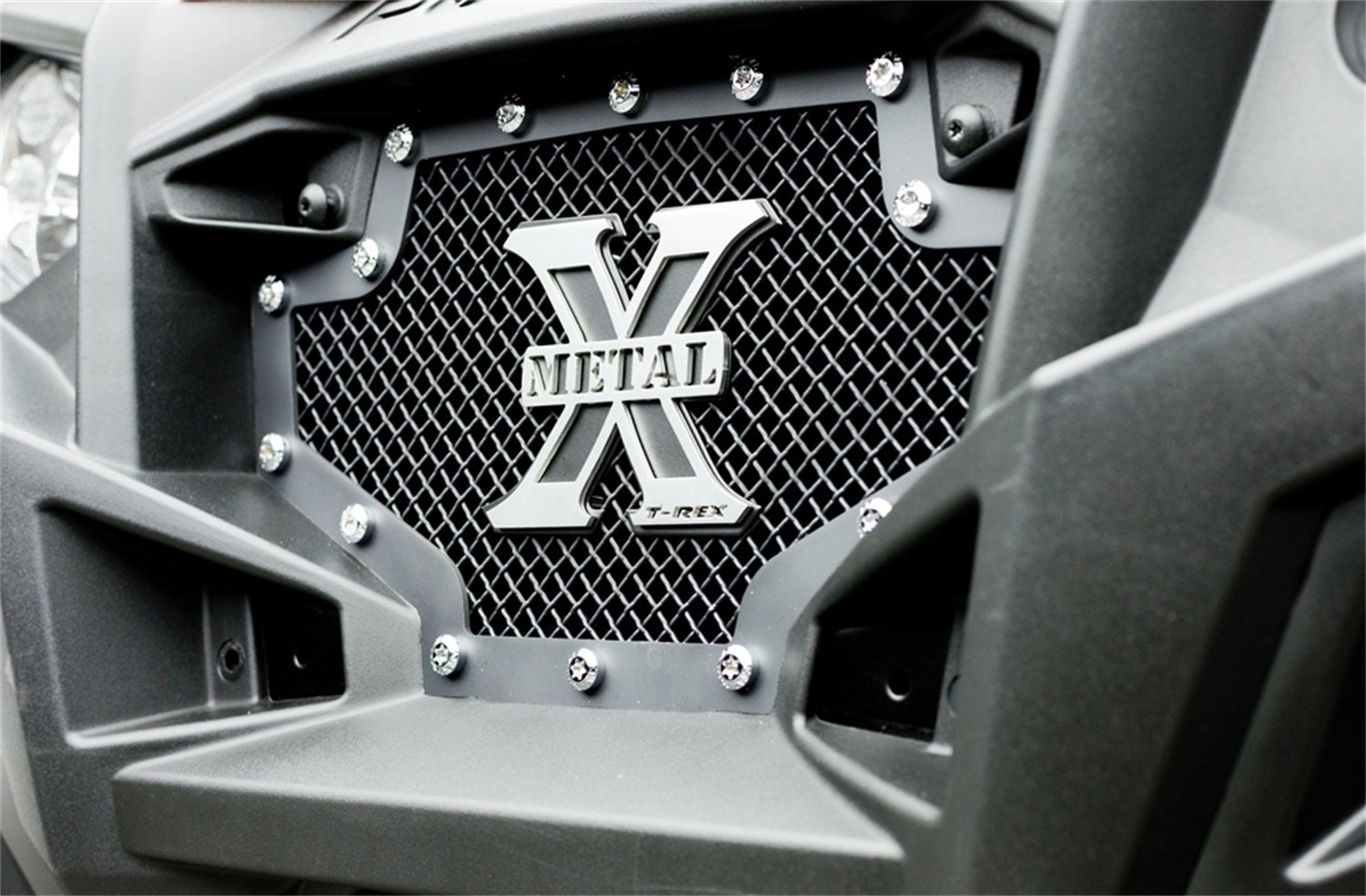 T-Rex 6719001 X-Metal Steel//Black Finish Small Formed Mesh Replacement Grille for Polaris RZR XP 900 T-Rex Grilles