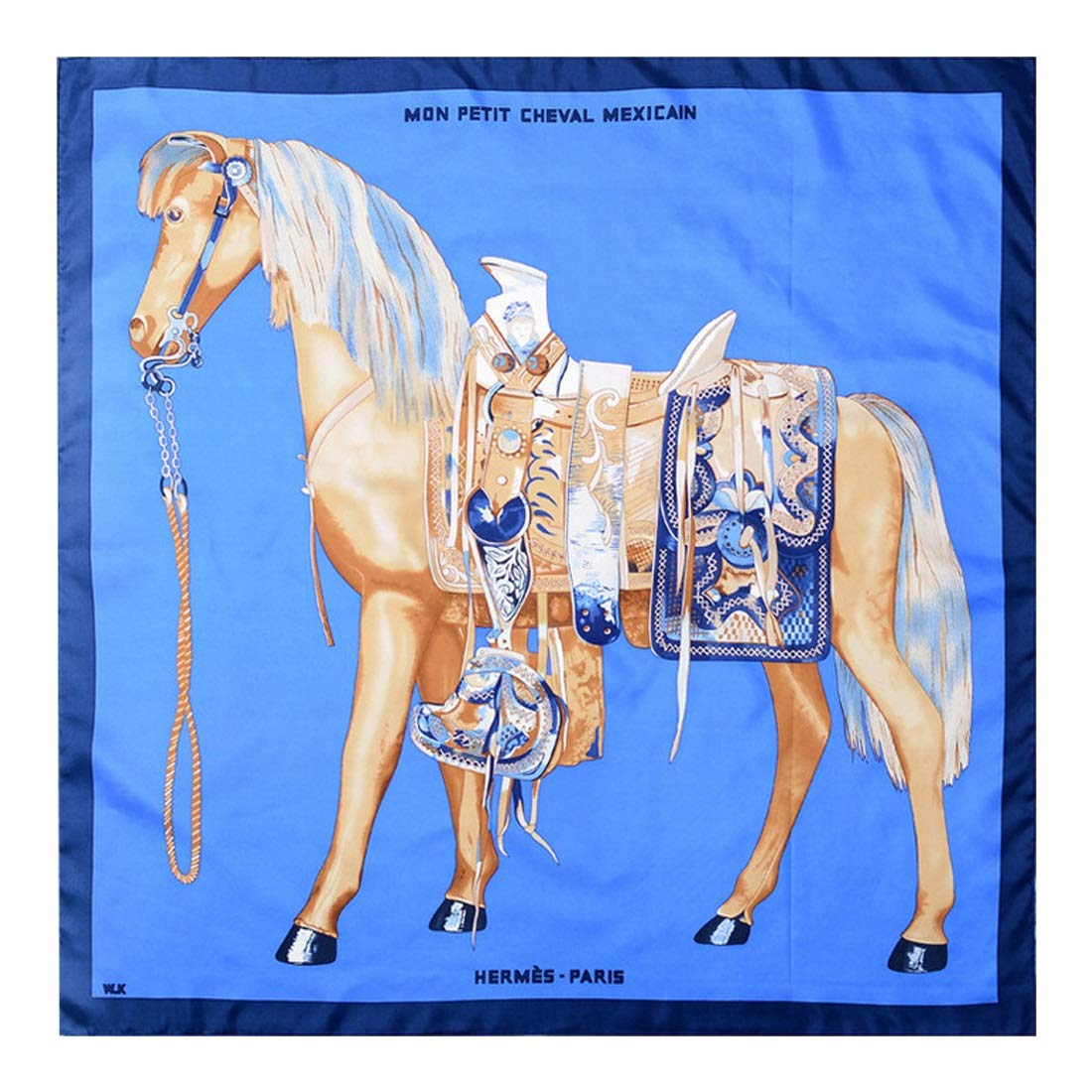 Lieyliso A Horse Pattern, Silk Scarf Sunscreen Shawl 100% Mulberry ...
