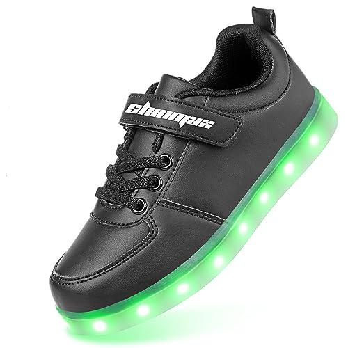AFFINEST Kids Scarpe LED Carica USB 7 Colori Lampeggiante outdoor Sneaker di Natale del Regalo per i bambini ragazze e xW25BVRsR