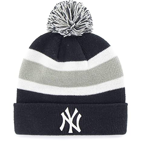 Image Unavailable. Image not available for. Color  Fan Favorite MLB New  York Yankees Retro Breakaway Stocking Hat ... 4d64fc059d8d