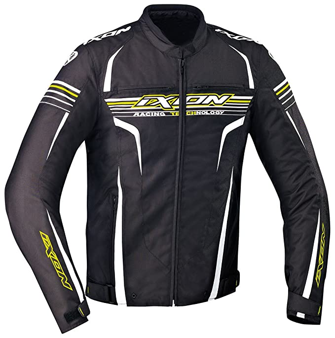 Ixon - Chaqueta Moto - Ixon striver, color negro/blanco/amarillo - XXL: Amazon.es: Coche y moto