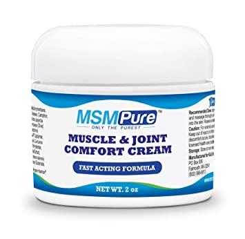 Kala Health MSMPure Maximum Strength Muscle & Joint Comfort MSM Cream, Fast  Acting &