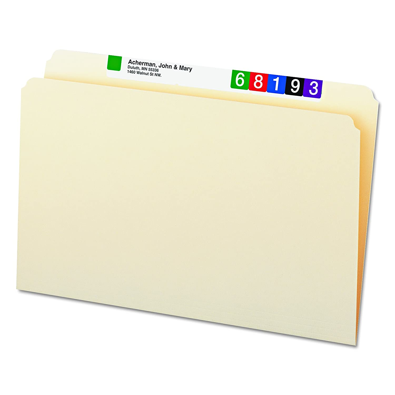 Legal Size 1//3-Cut Tab Center Position Smead File Folder Manila 100 per Box 15332