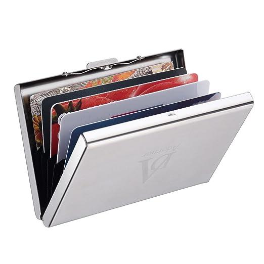 110 opinioni per Adorner Porta Biglietti da Vista Portafoglio RFID Blocco in Acciaio INOX Porta