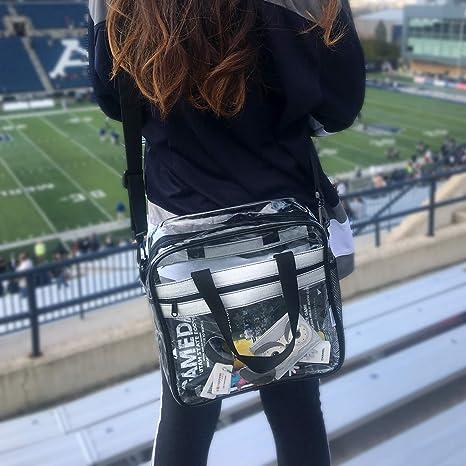 Amazon.com: Dinky Planet bolsa de estadio transparente NFL ...