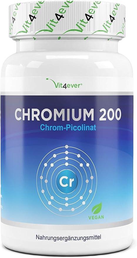 Chromium Picolinate 100 Kapseln 200mcg Chrom Blutzuckerspiegel no Tabletten