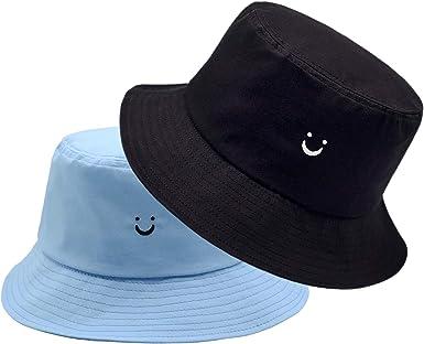 Flower Bucket Hat 100/% Cotton Packable Summer Travel Bucket Beach Sun Hat Night Call Embroidery Visor Outdoor Cap