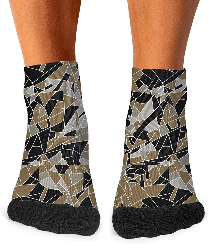 Floowyerion Mens military diamond camo Novelty Sports Socks Crazy Funny Crew Tube Socks