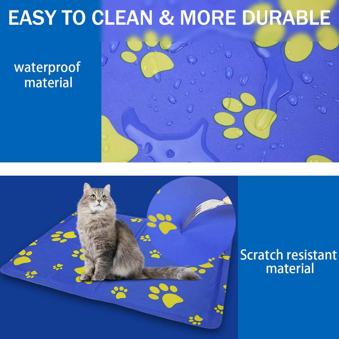 Grande Raffreddamento Pad /& Sleep Well 90/cm x50/cm PRO Gel di Raffreddamento Goleem Self Pet Mat per Puppy Dog /& Cat
