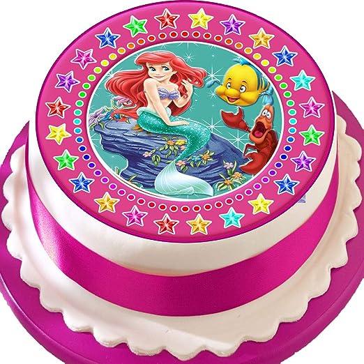 Ariel la Sirenita rosa Star frontera Cumpleaños troquelada ...