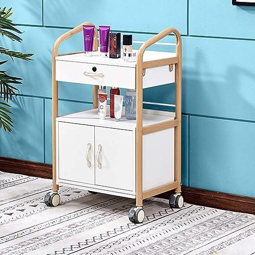 Utility Carts Carrito con Ruedas con cajones y taquillas, salón de ...